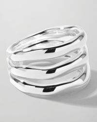 Ippolita | Metallic Sterling Silver Smooth 3-Layer Ring | Lyst