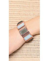 Rebecca Minkoff - Pink Stone Cuff Bracelet - Lyst