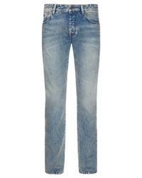 Scotch & Soda Blue Ralston Slim Tapered Jeans for men