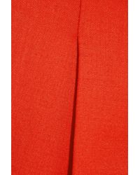 Theory | Red - Padra Cropped Crepe Straight-leg Pants - Burgundy | Lyst