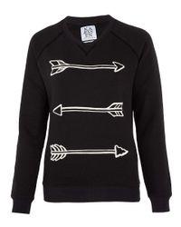 Zoe Karssen   Black Arrow Print Sweatshirt   Lyst