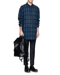 Alexander Wang - Blue Wool Flannel Patterned Shirt for Men - Lyst
