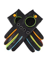 Black.co.uk Black Italian Leather Driving Gloves With Multi Colour Detail Description Delivery & Returns Reviews