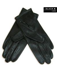 Black.co.uk Ladies' Black Leather Driving Gloves for men