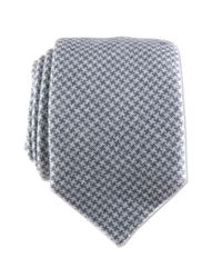 Black.co.uk Gray Grey And White Houndstooth Cashmere Tie Description Delivery & Returns Reviews for men