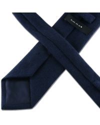 Black.co.uk Midnight Navy Blue Cashmere Tie for men
