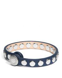 COACH | Blue Skinny Stud Leather Bracelet | Lyst