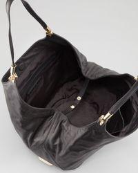 Elizabeth and James | Leather Shopper Tote Bag Black | Lyst