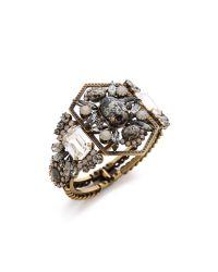 Elizabeth Cole | Metallic Art Deco Hinge Bracelet | Lyst