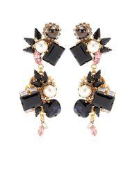 Erdem Pink Exclusive To Mytheresacom Goldplated Crystal Earrings