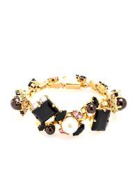 Erdem | Black Exclusive To Mytheresacom Goldplated Swarovski Crystal and Pearlembellished Bracelet | Lyst