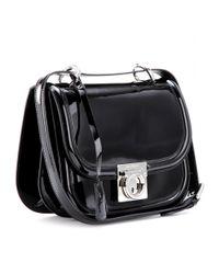 Ferragamo - Black Jody Patentleather Shoulder Bag - Lyst