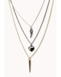 Forever 21 - Metallic Free Spirit Charm Necklace - Lyst