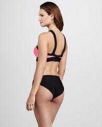 Hervé Léger - Black Crossneck Bandage Bikini - Lyst