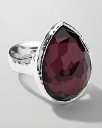 Ippolita - Metallic Sterling Silver Wonderland Teardrop Ring in Boysenberry for Men - Lyst