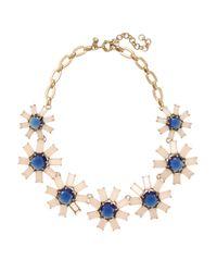 J.Crew | Blue Geometric Floral Necklace | Lyst