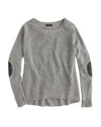 J.Crew Gray Elbow Patch Sweater