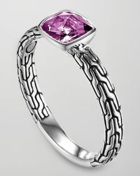 John Hardy - Metallic Batu Chain Amethyst Ring Small - Lyst