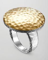 John Hardy | Metallic Palu Silver & Gold Round Ring | Lyst