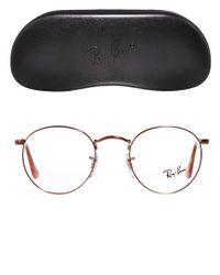 YMC Brown Rayban Round Glasses
