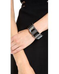 Rebecca Minkoff Gray Stone Cuff Bracelet