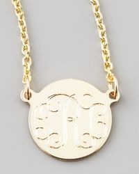 Sarah Chloe | Metallic Cara Monogrammed 14K Gold Necklace | Lyst