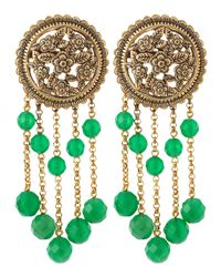 Stephen Dweck | Medallion Green-bead Earrings | Lyst