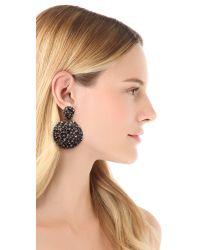 Alexis Bittar Gray Nova Spherical Clip On Earrings