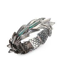 Eddie Borgo | Metallic Cyprus Howlite Jade Bracelet | Lyst