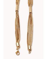 Forever 21 - Metallic Sleek Lariat Necklace - Lyst