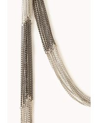Forever 21 - Metallic Layered Fringe Chain Necklace Set - Lyst