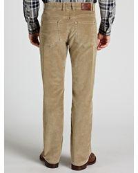 GANT Natural Standard Comfort Fit Corduroy Trousers for men