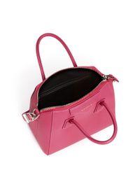Givenchy Pink 'antigona' Small Leather Bag
