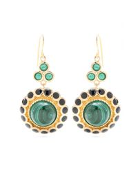 Isharya | Green Maharani 18kt Goldplated Malachite Earrings | Lyst