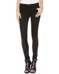 J Brand   Black Cropped Skinny Jeans   Lyst