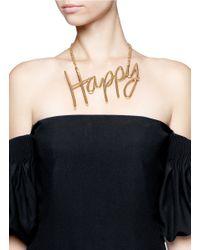 Lanvin   Metallic 'happy' Necklace   Lyst