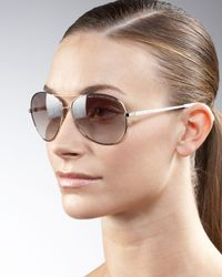 Marc By Marc Jacobs - Brown Aviator Sunglasses - Lyst