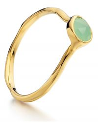 Monica Vinader | Green Siren Small Stacking Ring | Lyst