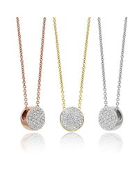 Monica Vinader Metallic Ava Button Necklace