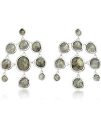 Monica Vinader | Gray Siren Chandelier Earrings | Lyst