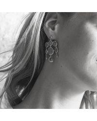 Monica Vinader - Gray Siren Chandelier Earrings - Lyst