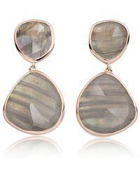 Monica Vinader - Gray Siren Cocktail Earrings - Lyst