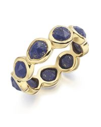 Monica Vinader | Blue Siren Eternity Ring Large | Lyst