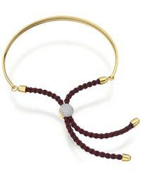 Monica Vinader - Brown Fiji Diamond Pave Friendship Bracelet - Lyst
