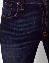 ASOS Blue Nudie Jeans Grim Tim Slim Fit Double Indigo Wash for men