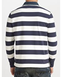 Polo Ralph Lauren Blue Long Sleeve Rugby Top for men