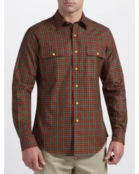 Polo Ralph Lauren Red Custom Fit Check Elbow Patch Shirt for men
