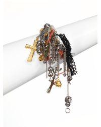 Saint Laurent | Multicolor Charm Cluster Bracelet | Lyst