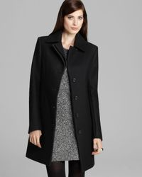 Theory Black Car Coat Gazella Roanoke