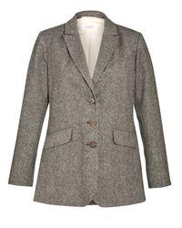 Toast - Gray Tweed Jacket - Lyst